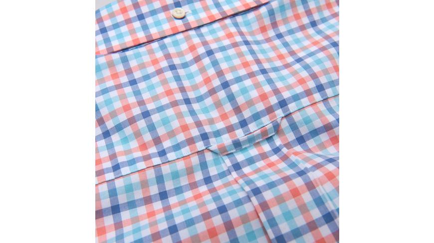 Kurzärmlige 3-Color Gingham Hemd