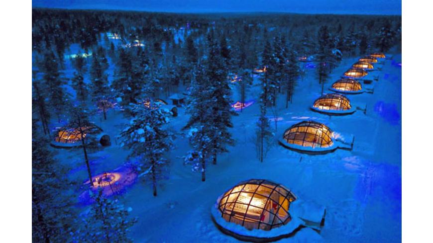 Abenteuer-Urlaub im Glasiglu in Lappland für 2