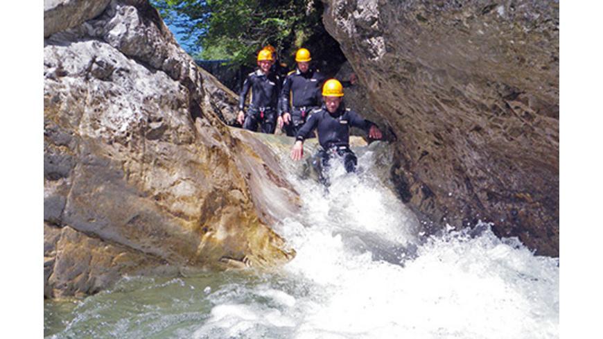 Canyoning für Einsteiger bei Kiefersfelden