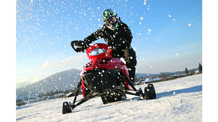 E-Schneemobil fahren in Inzell
