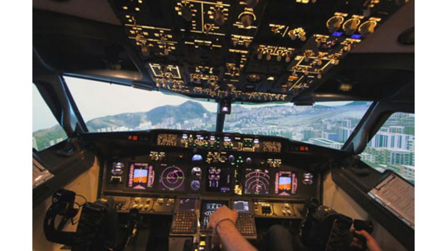 Full-Motion Flugsimulator Boeing 737