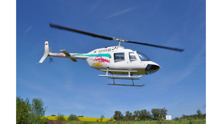 Hubschrauber über Essen