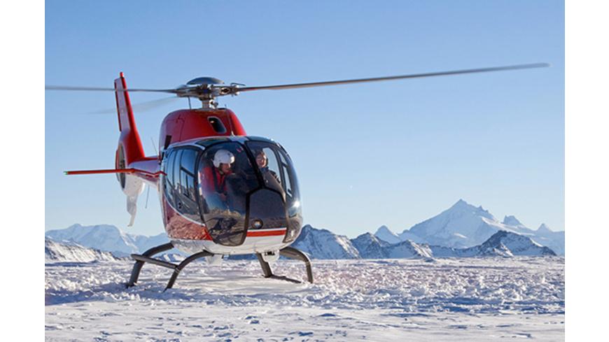 Helikopterflug mit Gletscherfrühstück in den Schweizer Alpen für 2