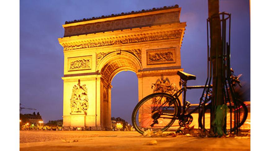 Sightseeing-Radtour durch Paris bei Nacht