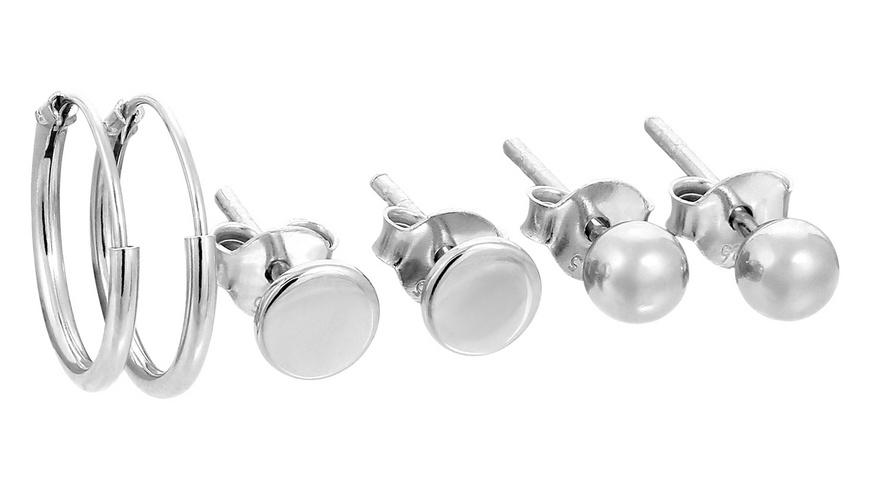Ohrstecker - Silver Set