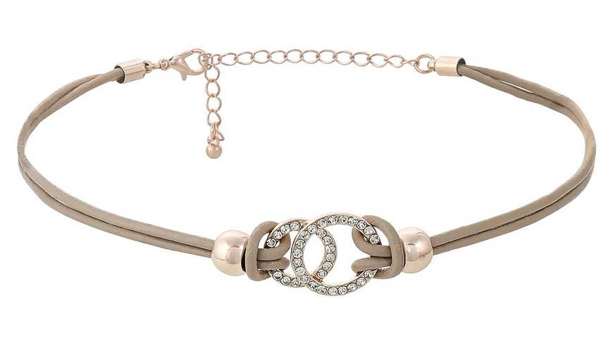 Choker - Taupe Leather