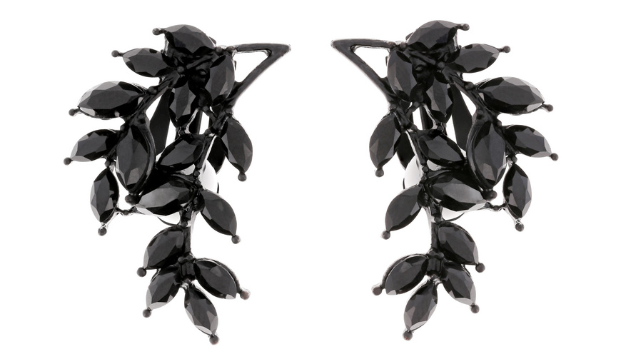 Ohrclips - Black Twig