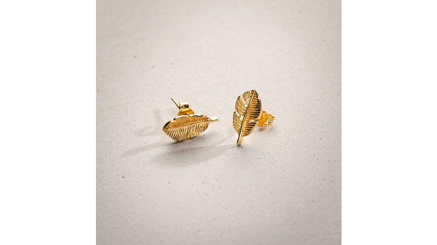 Ohrstecker - Golden Leaf