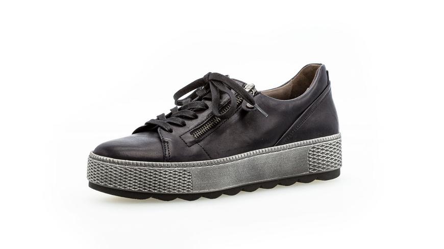 Sneaker low Glattleder