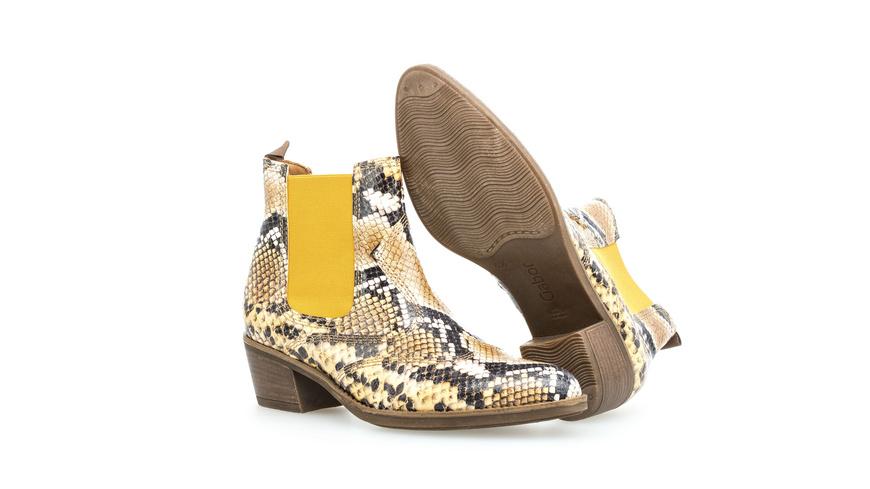 Chelsea Boots Leder Reptiloptik