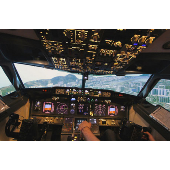 Full-Motion Flugsimulator Boeing 737