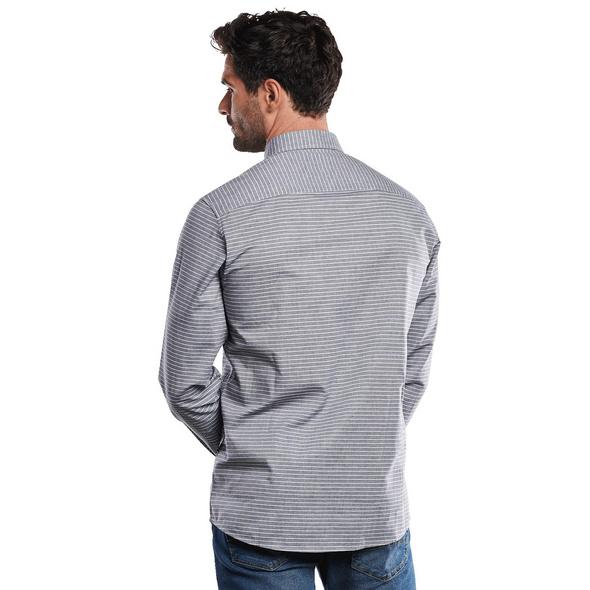 Langarm-Hemd gestreift