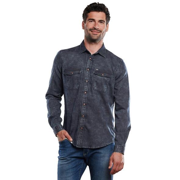Langarm-Hemd uni