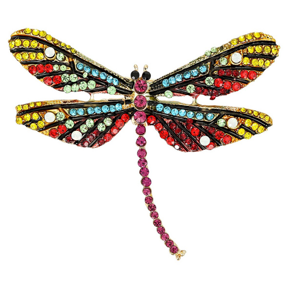 Brosche - Rainbow  Dragon Fly