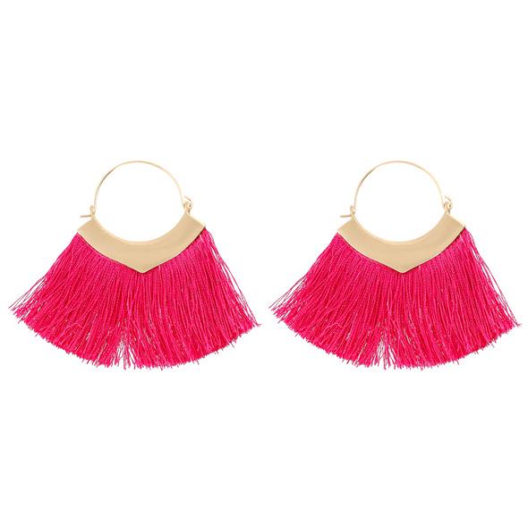 Ohrhänger - Pink Tassel