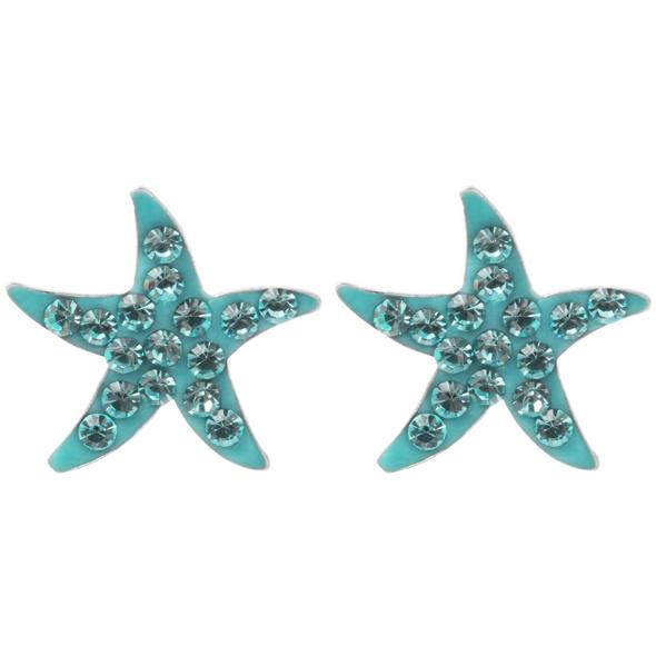 Ohrstecker - Blue Starfish