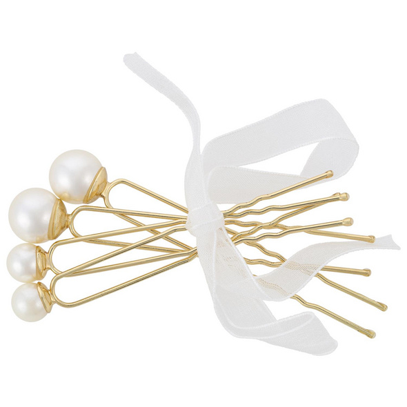 Haarnadel - Golden Pearls