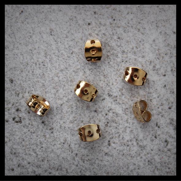 Ohrflügel - Goldfarbene Ersatzstecker