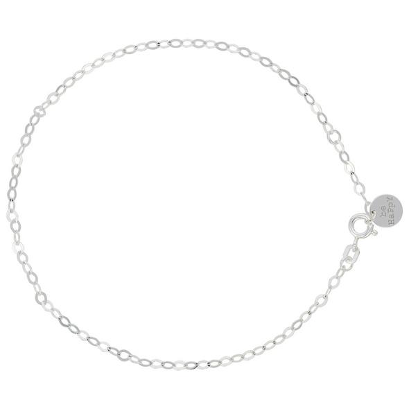 Fußkette - Simple Silver