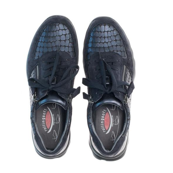 Sneaker low Materialmix Leder