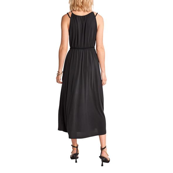 Modalmix-Kleid mit Flechtgürtel - Maxikleid