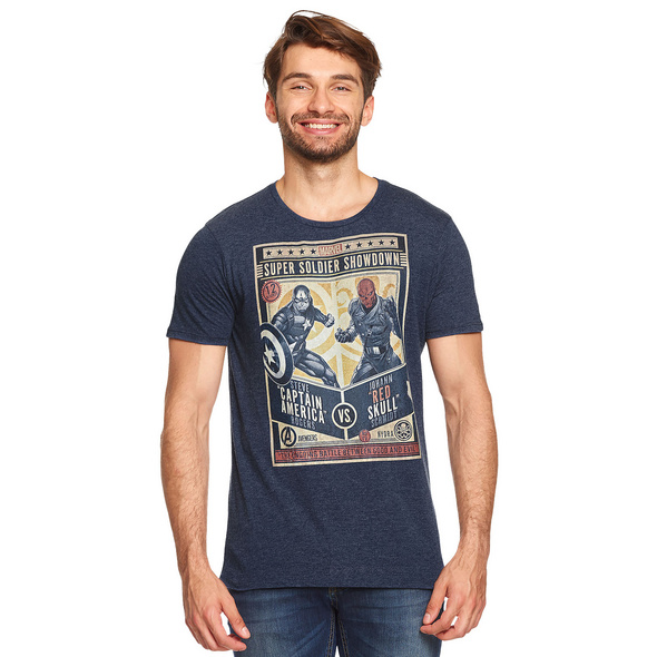 Captain America - Super Soldier Showdown T-Shirt blau