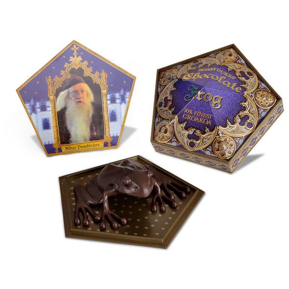 Schokofrosch Figur mit Sammelkarte - Harry Potter Replik