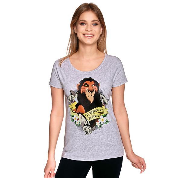 König der Löwen - Scar Surrounded by Fools T-Shirt Damen grau