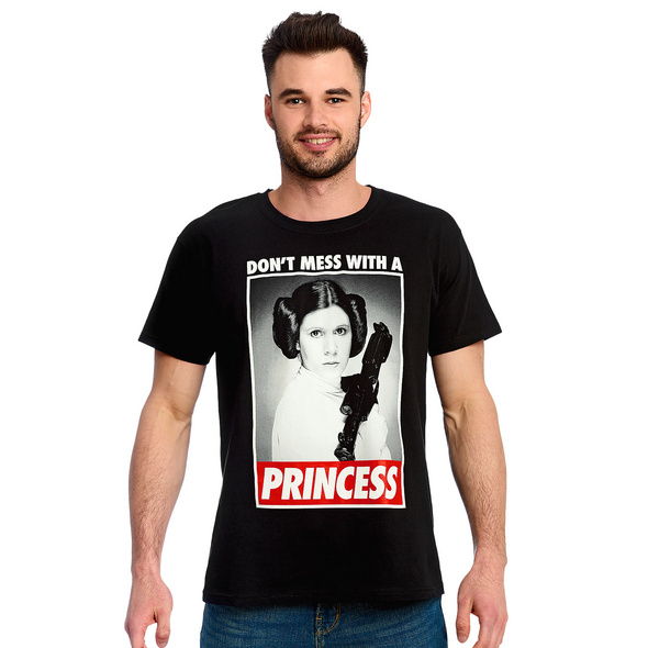 Star Wars - Leia Dont Mess With a Princess T-Shirt schwarz