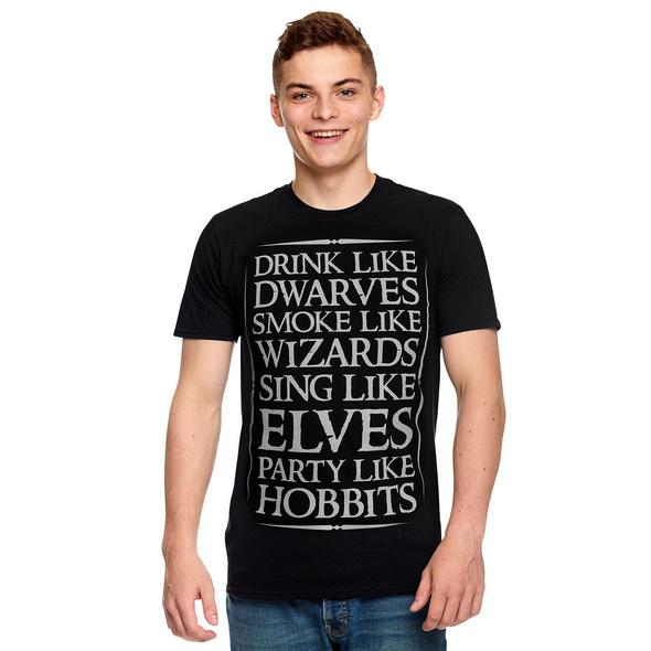 Mittelerde Party T-Shirt für Herr der Ringe Fans schwarz