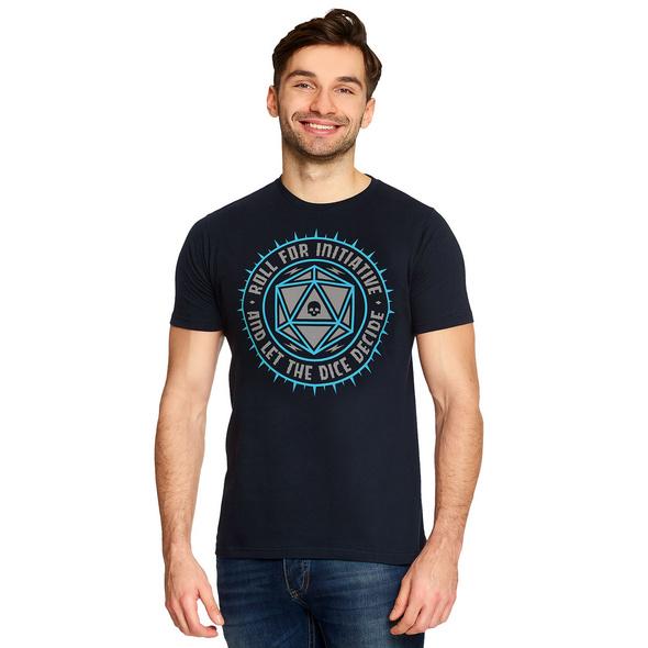 Pen & Paper Let The Dice Decide T-Shirt blau