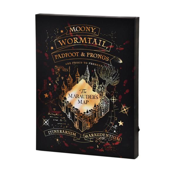 Harry Potter - Karte des Rumtreibers Wandbild mit Licht