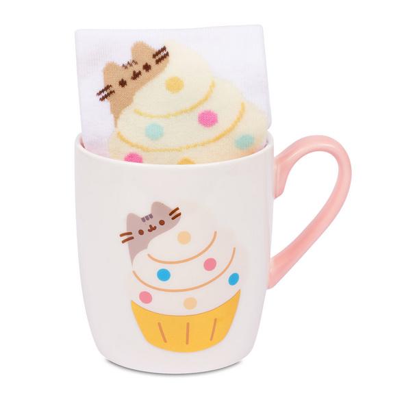 Pusheen - Cupcake Socken und Tasse