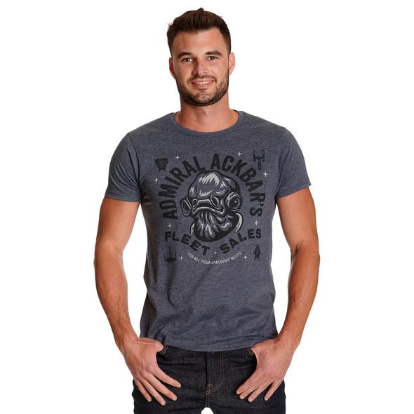 Star Wars - Admiral Ackbars Fleet Sales T-Shirt blau