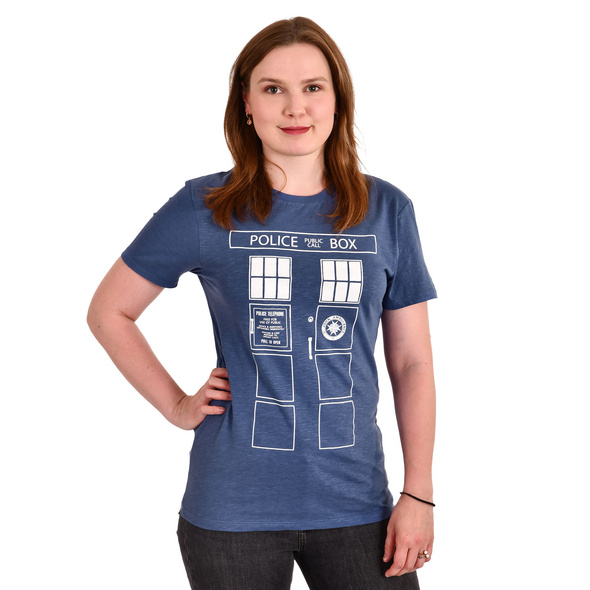 Tardis Police Box T-Shirt blau - Doctor Who