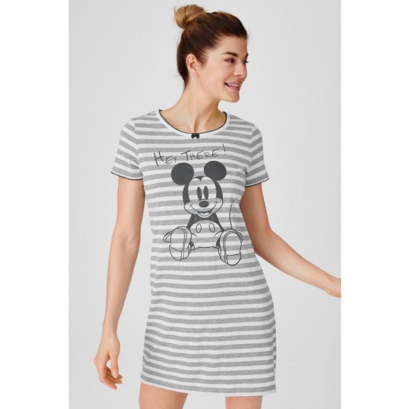 Bigshirt - gestreift - Micky Maus