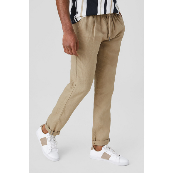 Leinenhose - Tapered Fit