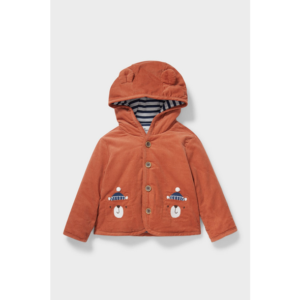 Baby-Jacke mit Kapuze - recycelt