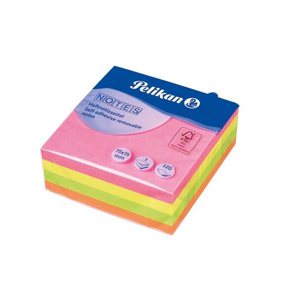 Pelikan Haftnotiz Notizhaftzettel Neonmix 75 x 75 mm 320 Blatt