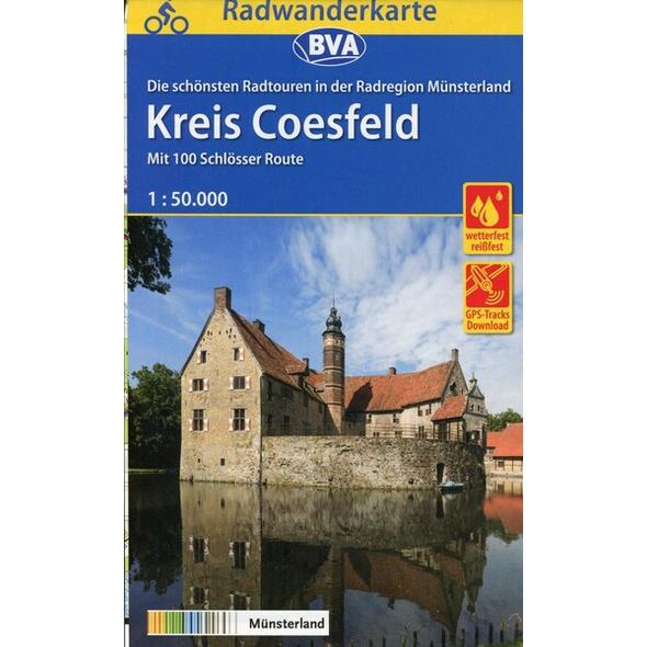 Radwanderkarte BVA Radregion Münsterland Kreis Coesfeld 1:50.000