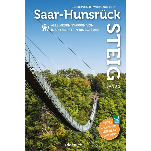 Saar-Hunsrück-Steig Premium-Wandern, Band 2 mit Faltkarte