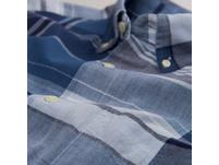 Kurzärmliges Selvedge Madras Hemd