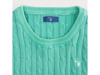 Sunbleached Sweater mit Zopfstrickmuster