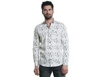 Modisches Langarmhemd mit floraler Musterung