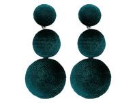 Ohrstecker - Green Buttons