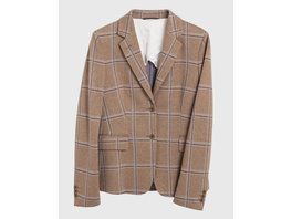 Window Check Jersey Blazer