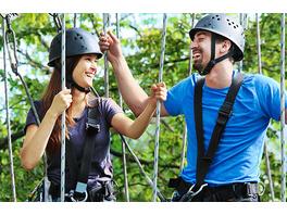 Kletterparcours im Waldseilgarten für 2