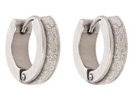 Creole - Silver Glitter