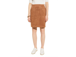 Pencil Skirt in Veloursleder-Optik - Rock