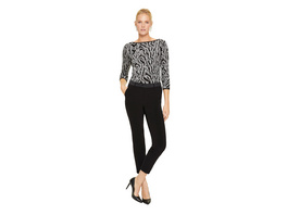 Slim Fit: Hose mit Satin-Details - Cigarette Pants